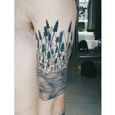 Image result for landscape sleeve tattoos