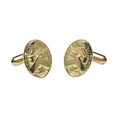 Oval Coat of Arms Medium Cuff Links - Celtic Cuff-Links - Rings from Ireland. Popular with genealogy buffs the oval coat of arms medium cuff links can be personalized with your own family crest to make it that more special. Irish Coat Of Arms, Mens Travel Bag, Grandparents Day, Family Crest, Mens Gloves, Men's Backpack, Hand Engraving, Jewelry Stores, Cufflinks
