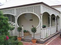 I like this fretwork Front Verandah, Porch Veranda, Weatherboard Exterior, Character Home, Queenslander, Home Reno, Facade, Building A House, Pergola