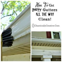 Cleaning Gutters -not a fun job but has to be done. #guttercleaning Hire Real Property Management Houston and we will do it for you!