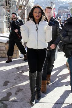 How to still look cute even though it's freezing cold outside: Jennifer Hudson at Sundance 2015