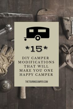 A couple easy modifications can make your camper feel a lot more like a home away from home. Here's an index of improvements we've made to our RV. Camper Hacks, Diy Camper, Rv Campers, Happy Campers, Rv Hacks, Camper Storage, Popup Camper, Truck Camper, Camper Life