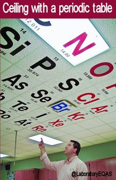 Some schools are decorating their ceilings with a periodic table. Great possibility for wide format print.