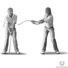Pretend you are holding a garden hose with your hands instead of a golf club. Through this metaphor you are meant to execute your golf swing as you would if you were to hold such a flexible object in your hands.