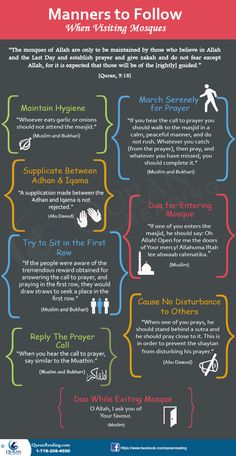 Manners To Follow When Visiting Mosques #mosques