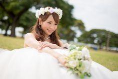 ALOHA☆ ハワイと言えばお花というイメージですよね♪ 最近ヘアアクセサリーにハクレイ(花冠)を希望される花嫁様が増えています。 ビーチに映えイメ...
