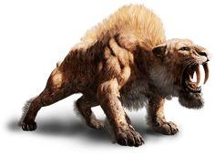 Far Cry Primal - Animals & Beast Mastery Sabretooth Tiger, Far Cry Primal, Giant Cat, Alien Concept Art, Fantasy Monster, Prehistoric Creatures, Animal Wallpaper, Fauna, Creature Design