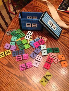 Perler bead domino set