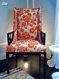 How-to: Upholstery-I have this fabric in blue! I'll have to try on a chair