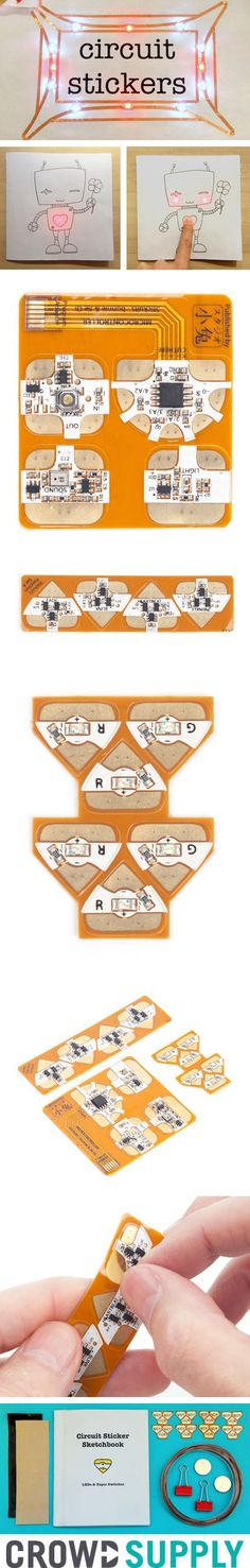 Circuit Stickers  Peel and Stick Electronics for crafting circuits, $25 starter kit or other options