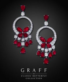 Home to fine diamonds and gems of unparalleled rarity, perfection and unrivalled beauty. Graff Jewelry, Red Jewelry, High Jewelry, Bridal Jewelry, Jewelery, Emerald Earrings, Emerald Jewelry, Diamond Jewelry, Butterfly Jewelry