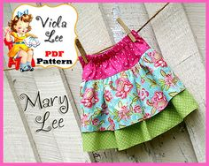 Mary Lee.... Girl's Twirl Skirt Pattern. Toddler Ruffle Skirt Pattern. PDF Sewing Pattern, Infant Pattern, INSTANT DOWNLOAD