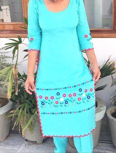 Designer Punjabi Suits Patiala, Punjabi Suits Designer Boutique, Patiala Suit Designs, Indian Designer Outfits, Salwar Suits, Boutique Suits, Embroidery Suits Punjabi, Kurti Embroidery Design, Embroidery Fashion