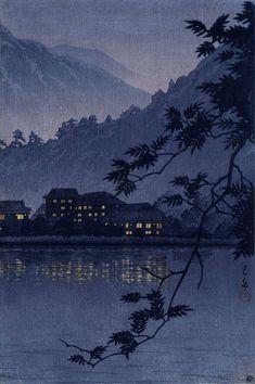 Japanese Art Print Yumoto Hotsprings in Nikko by