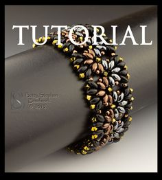 Beading Tutorial for Metallic Duos by BettyStephanBeadwork on Etsy, $9.00