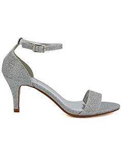 * Details can be found by clicking on the image. (This is an affiliate link) Low Heel Shoes, Low Heels, Shoes Sandals, Heeled Sandals, Stilettos, Formal Heels, Peep Toe, Glitter Sandals, Shoe Gallery