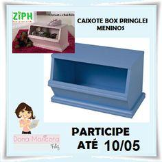Quero o BAÚ CAIXOTE BOX PRINGLEI que a @Maricotafeliz e a Ziph estão sorteando.