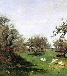 Printemps à Pont Aven, 1874 de William Lamb Picknell (1853-1897, United States)