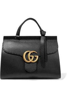 6d739b834e Black textured-leather (Calf) Push lock-fastening front flap Comes with dust