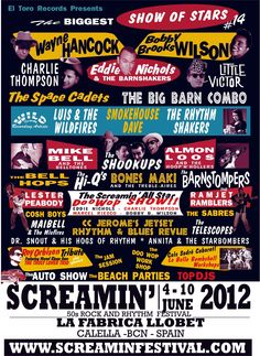 Screamin' Rockabilly Festival. 4-10 June 2012. Calella. Spain.