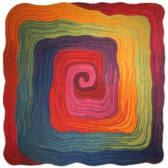 Rainbow Square Lamontage rug by Liora Manne