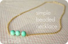 How to make a beaded necklace.  I was looking at a necklace I bought on Etsy the other day, trying to figure out how to chain the beads together, and now here's a great tutorial!