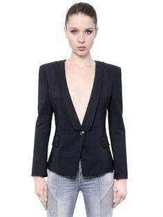 New Pierre Balmain Cotton Blend Satin Jacket fashion online. [$911]newtopfashion top<<