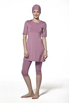 AlHamra NEW Capri Modest Swimwear Swimsuit Muslim Islamic Beachwear Sportswear Light Pink S -- Learn more by visiting the image link.