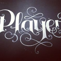 Player #lettering #calligraphy #typography #type #art #illustration #design #graphicdesign #freehand #tattoo #tattoos #moleskine #designer #illustrator #sketch #graffiti #style #clothes #clothing