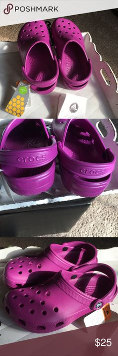 NWT - Purple/Pink Crocs New - Never worn, too small for me. They need a new home CROCS Shoes Mules & Clogs