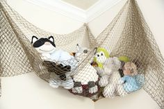 Project Nursery - Fisherman's Net Filled with Plush Toys for Mermaid Lagoon