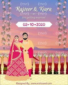 Looking for the vibrant & colorful wedding invites for your Home Wedding / Intimate Wedding? . We have covered you up with our latest wedding invitation designs for Home weddings. This bespoke invite with the sunset theme background, bride & groom illustration with bright colored outfits is perfect for your ❤ . Hurry up & order your bespoke wedding invite. . WhatsApp: +919878949765 +918699033138 📧: hello@wishnwed.com Website: www.wishnwed.com Indian Wedding Invitations, Wedding Invitation Design, Theme Background, Shiva Shakti, Home Wedding, Bride Groom, Invites, Getting Married, Wedding Colors