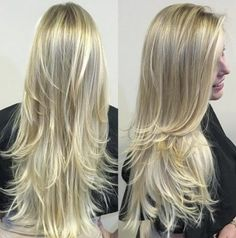 platinum blonde + dark highlights / #hairstyles #fashion #beauty