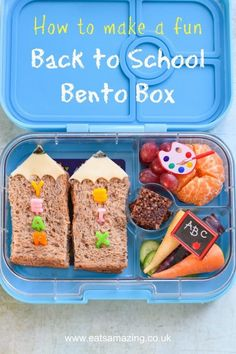 How to make a fun back to school bento lunch for kids with easy pencil sandwiche. - How to make a fun back to school bento lunch for kids with easy pencil sandwiche… – Kids Lunch - Bento Box Lunch For Kids, Kids Packed Lunch, Vegan Lunch Box, Easy Lunch Boxes, Kids Lunch For School, Healthy School Lunches, Lunch Ideas, Bento Ideas, Box Lunches