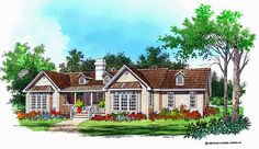 Country House Plan with 1826 Square Feet and 3 Bedrooms from Dream Home Source | House Plan Code DHSW01427