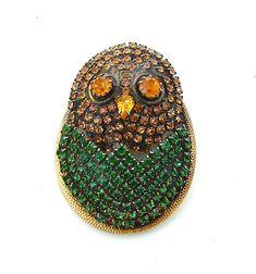 HOBE Rhinestone Brooch Pendant Vintage Rhinestone by kiamichi7, $185.00