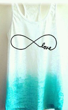 Would look great with some black shorts for a summer outfit! Love this infinity shirt Teen Fashion, Love Fashion, Fashion Outfits, Infinity Signs, Cool Outfits, Summer Outfits, To Infinity And Beyond, Diy Shirt, Spring Fashion