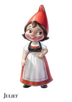 """Juliet from """"Gnomeo and Juliet"""". Trying to convince my daughter that this a good Halloween costume!"""