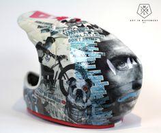 Downhill helmet by JMKL Handmade.