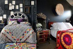 10 stijlvolle zwarte slaapkamers - Eclectisch | ELLE Decoration NL