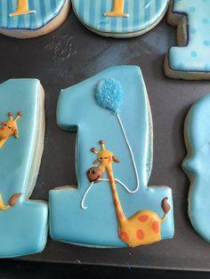 Giraffe 1st Birthday Cookies