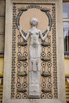 Art Nouveau architectural details. Stare Mesto, Prague, Czech Republic. Photo by Adam Paul.