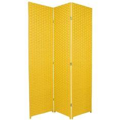6ft Tall Pastel Colors Woven Fiber Room Divider Screen Room