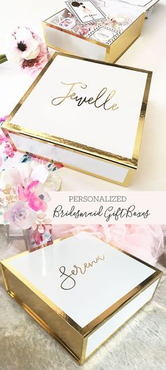 Bridesmaid Gift Box Bridesmaid Boxes Personalized Gift by ModParty