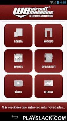 """WZ Airsoft Magazine  Android App - playslack.com , """"WZ Airsoft Magazine"""" es una revista, totalmente digital, gratuita y on-line, especializada en el mundo del Airsoft. Nuestro mayor deseo es dar a conocer esta práctica en nuestro país y compartir nuestras experiencias y noticias, con países vecinos. Con esta aplicación podrás ver todos los números de nuestra revista, estar informado de las últimas noticias, ofertas de productos, eventos, vídeos y sobre todo podrás tener acceso a una guía…"""