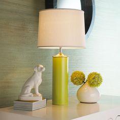 Modern Cylinder Ceramic Table Lamp via http://www.shadesoflight.com/modern-cylinder-lamp.html
