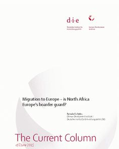 Article discusses how refugee movements from Sub-Saharan Africa into North Africa exacerbates the latter's own socio-economic-political problems. Many times, due to lack of resources and training, the refugees face great human rights abuses in these countries. This is encouraged by Europe and its focus on security over dealing with the root causes of migration. It seeks to distance itself from the problem, by laying the responsibility of the migrants solely at North Africa's feet.