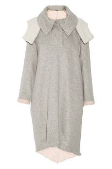 Adam Lippes Shearling-trimmed wool and angora-blend coat | THE OUTNET