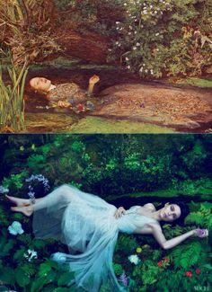 T: John Everett Millias, 1852  B: Vogue 2011, Rooney Mara by Mert Alas and Marcus Piggott