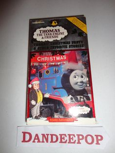 Thomas The Tank Engine Thomas & Friends Thomas' Christmas Party & Other Stories VHS Movie Find me at www.dandeepop.com